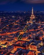 Paris city by night